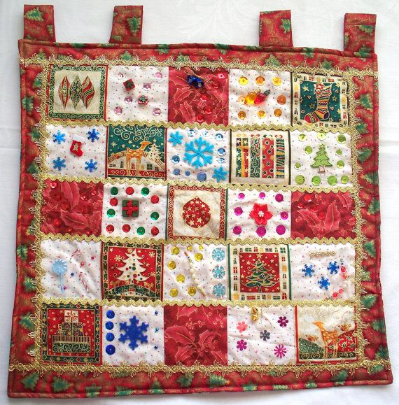 Christmas Quilt Wallhanging  Merry Christmas by PepitasStudio