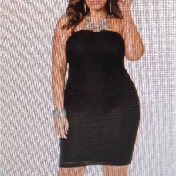 Black tube dress Black tube dress never worn Dresses Strapless