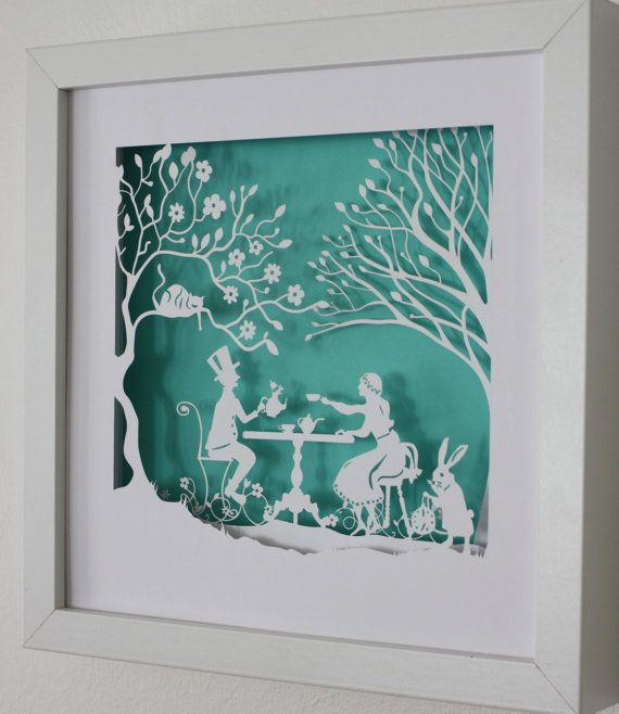 Art based on their wedding theme; Mad Hatter's tea party https://www.etsy.com/listing/160078360/alice-in-wonderland-the-mad-hatters-tea