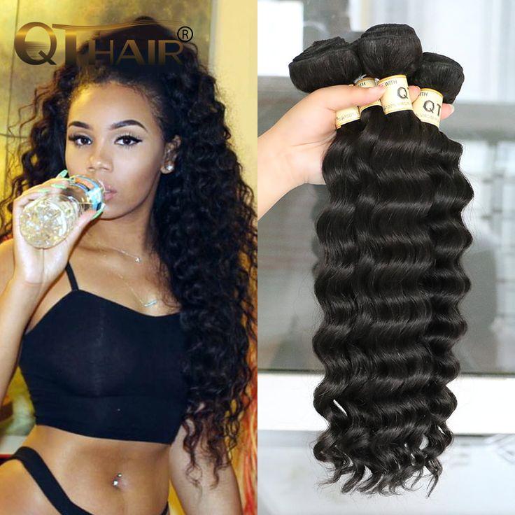 3 stks queen hair producten braziliaanse natuurlijke wave/meer golvend 7a braziliaanse virgin haar losse diepe golf 100% menselijk haar wave bundels
