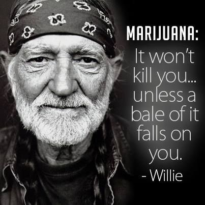 Willie Nelson quote.                           What a way to go....