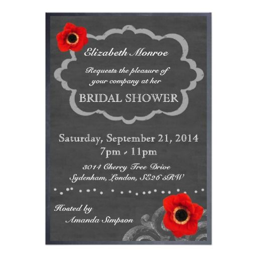 Personalised Bridal Shower Invitations