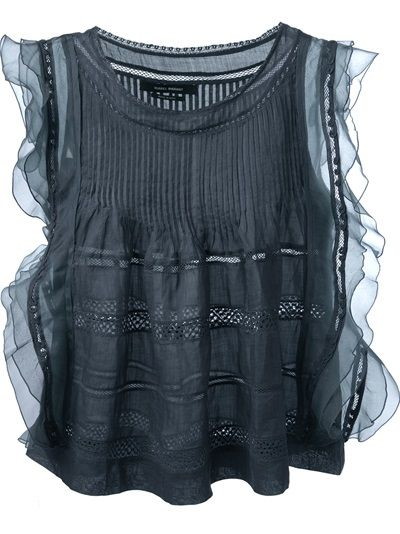 ISABEL MARANT Pleated Ruffled Top
