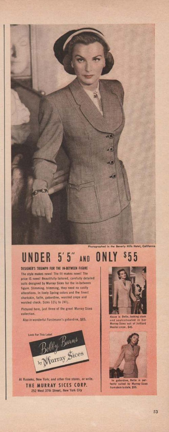 Vintage clothes fashion ads of the 1940s page 22 - Vintage Clothes Fashion Ads Of The Page