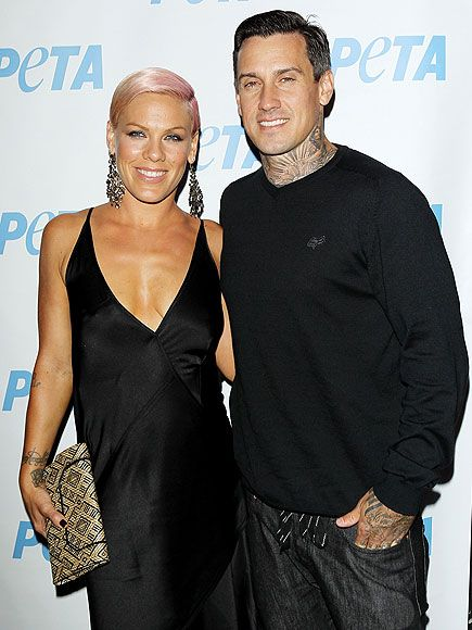 Pink and husband Carey Hart leave daughter Willow at home for an adults-only outing on Wednesday, attending PETA's Stand-Up for Animals event in Hollywood.  * I love their love story and that they worked things out in their marriage.