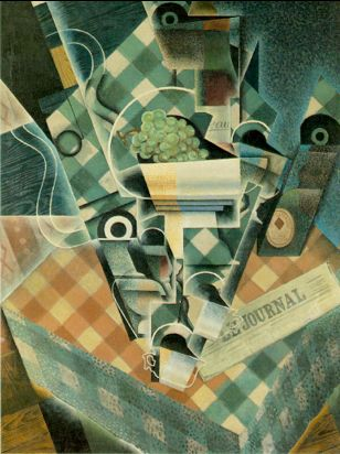 Juan Gris Still Life with Checked Tablecloth 1915 oil on canvas 116 x 89cms