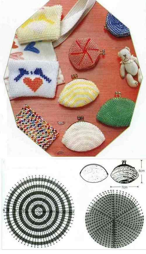 Crystal Beaded Purse - Beaded Jewelry Patterns 串珠零钱包