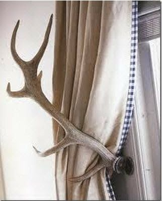 Decorating with antlers.