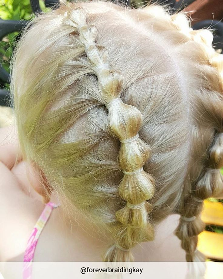 "116 tykkäystä, 13 kommenttia - Lonikay - Toddler Hairstyles (@foreverbraidingkay) Instagramissa: ""Bubble ponies don't have to be huge, sometime they can be micro! Little miss wanted tons of…"""