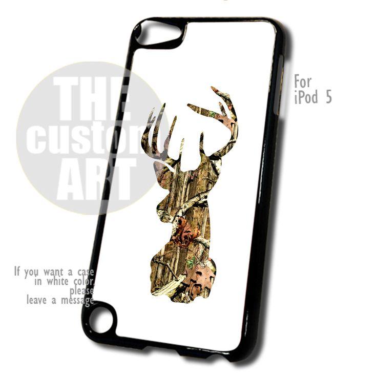White Camo Deer case for iPod 5 | TheCustomArt - Accessories on Bonanza