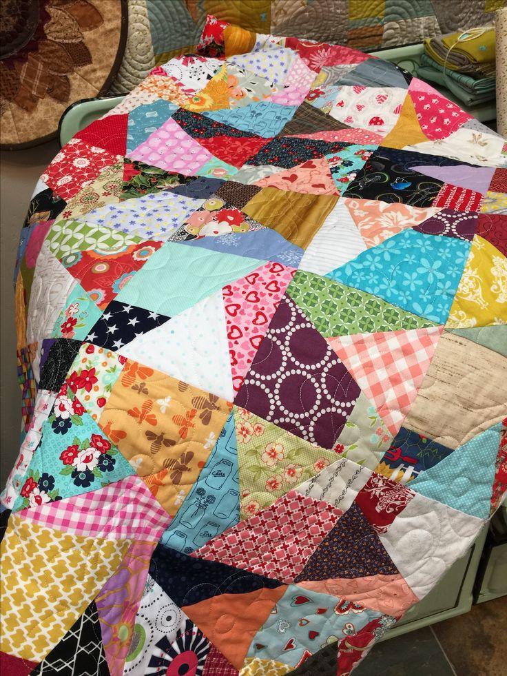 7 Best Quilts Scrap Crazy 8 Template Images On Pinterest