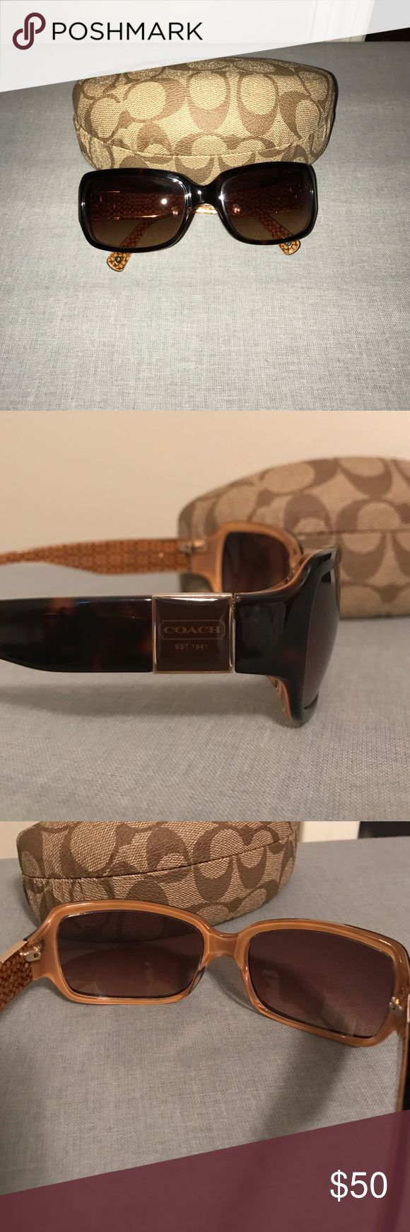 Coach sunglasses Like new condition coach sunglasses with coach case and coach cloth. Tortoise color Coach Accessories Sunglasses