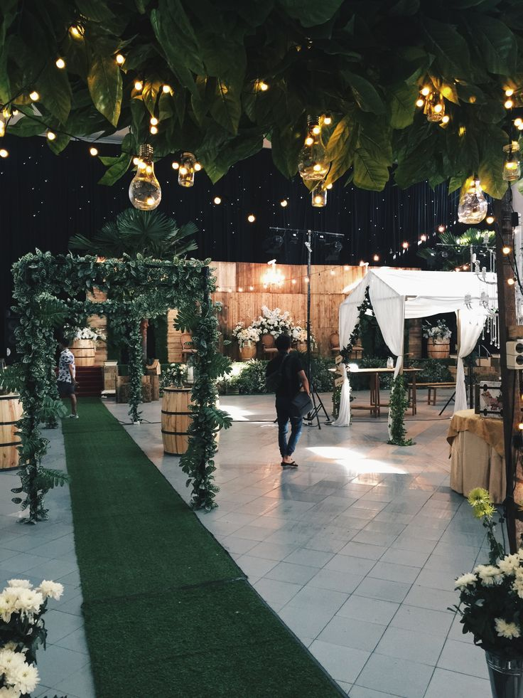 46 best raindropsdeco wedding decoration images on pinterest rustic indoor gedung surabaya indonesia by ig junglespirit Image collections