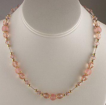 Jewelry Making Idea: Blushing Rose Necklace (eebeads.com)