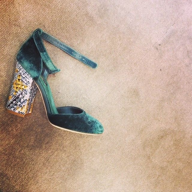 D & G fluwelen schoenen