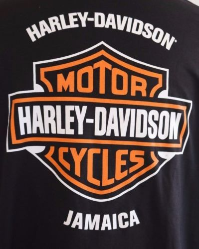 Harley-Davidson-Jamaica-Mens-Black-Long-Sleeve-3XL-Shirt-NWT