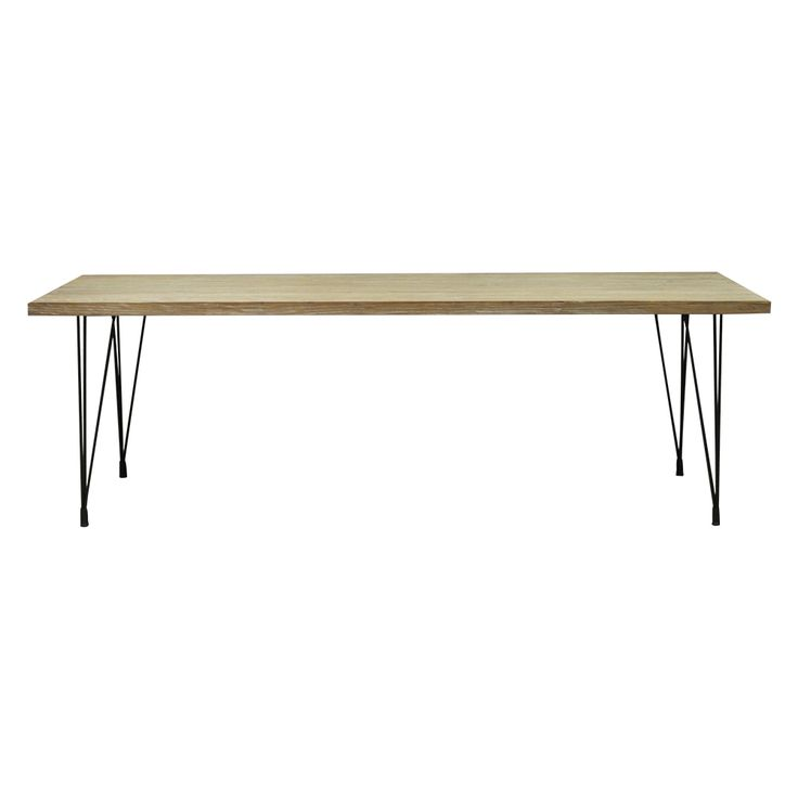 Simple, refined metal legs allow the distinctive reclaimed elm-wood top Dimensions: 2400x900x760 Please note: All products are subject to availability. Prices exclude delivery. Delivery is outsourced and takes 3- 6 working days to arrive nationally