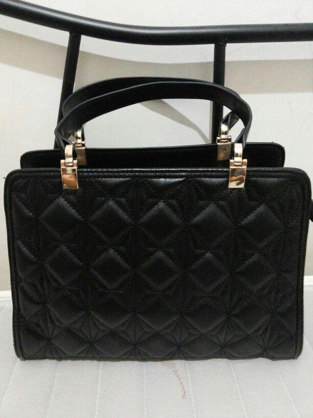 Black Handbag PU Leather anonymous