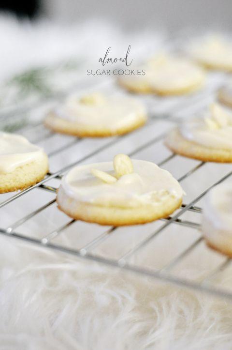 Almond Sugar Cookies   lark&linen