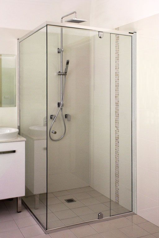Semi Frameless Shower Screen White Bathroom Co Home Master Bath In 2018 Pinterest And Laundry