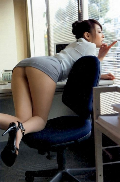 Asian Mini Skirt Office