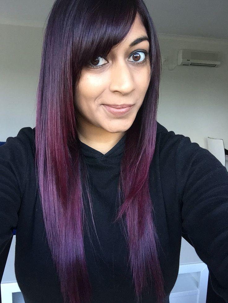 Manic Panic Violet Night Dark Purple Ombré Balayage Hair