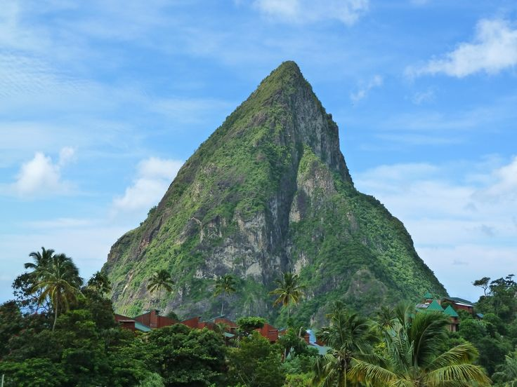 View of Gros Piton - Saint-Lucia. Cocotraie Issues 1, 5, 9.