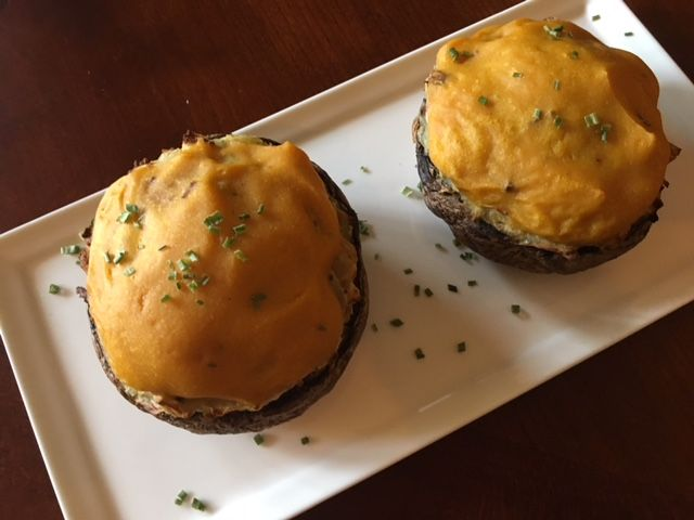 Breville Smart Oven Air Garlic Mashed Potato Stuffed Portobello Mushrooms Garlic Mashed Smart Oven Real Food Recipes