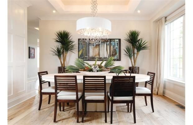 Dining Room paint colours: Walls: Dulux # 30YY 68/024 Barely Beige Moulded wall – all surfaces - completely in semi-gloss, Trim colour Nova White 10BB 83/017 Flat ceiling inside plaster detail: 30YY 56/060 Fossil Grey. Order tickets www.dreamofalifetime.ca Photo by www.ottawacitizen.com
