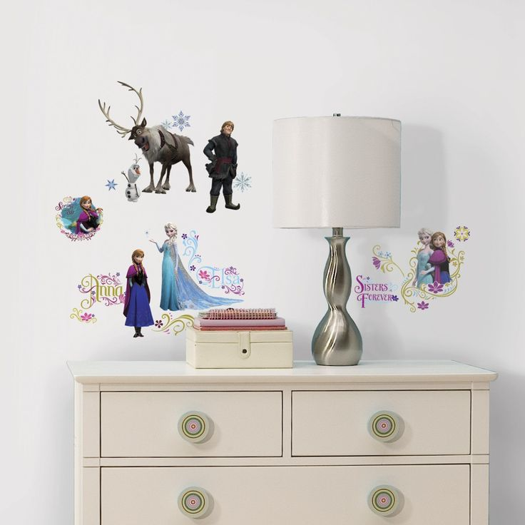 Frozen Wall Decals with Glitter