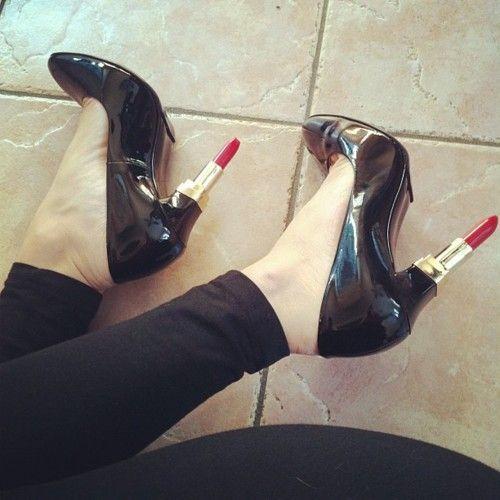 Lipstick heels!