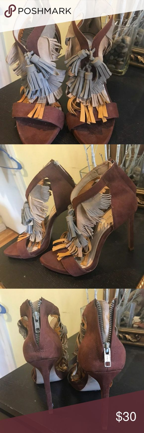Marroon tassel heels zara These funky stunners will kill any outift! Pictured show condition Zara Shoes Heels