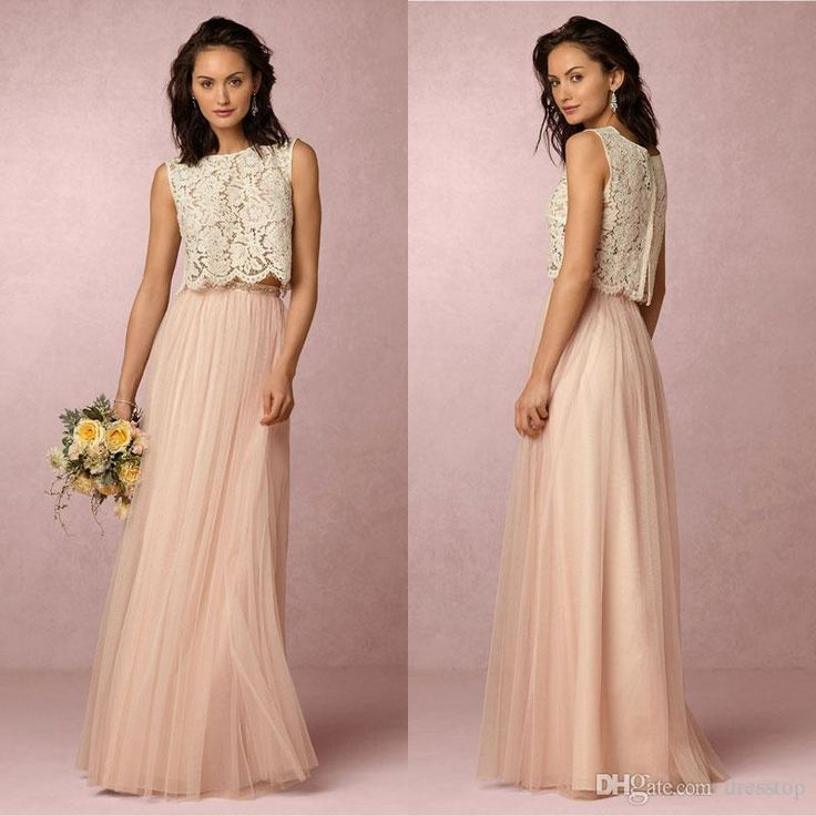 Stunning Bhldn Two Pieces Bridesmaid Dresses Lace Jewel Neckline Cheap Wedding Guest Dress Floor Length Tulle Formal Gowns Burgundy Bridesmaid Dresses Convertible Bridesmaid Dress From Dresstop, $91.06  Dhgate.Com