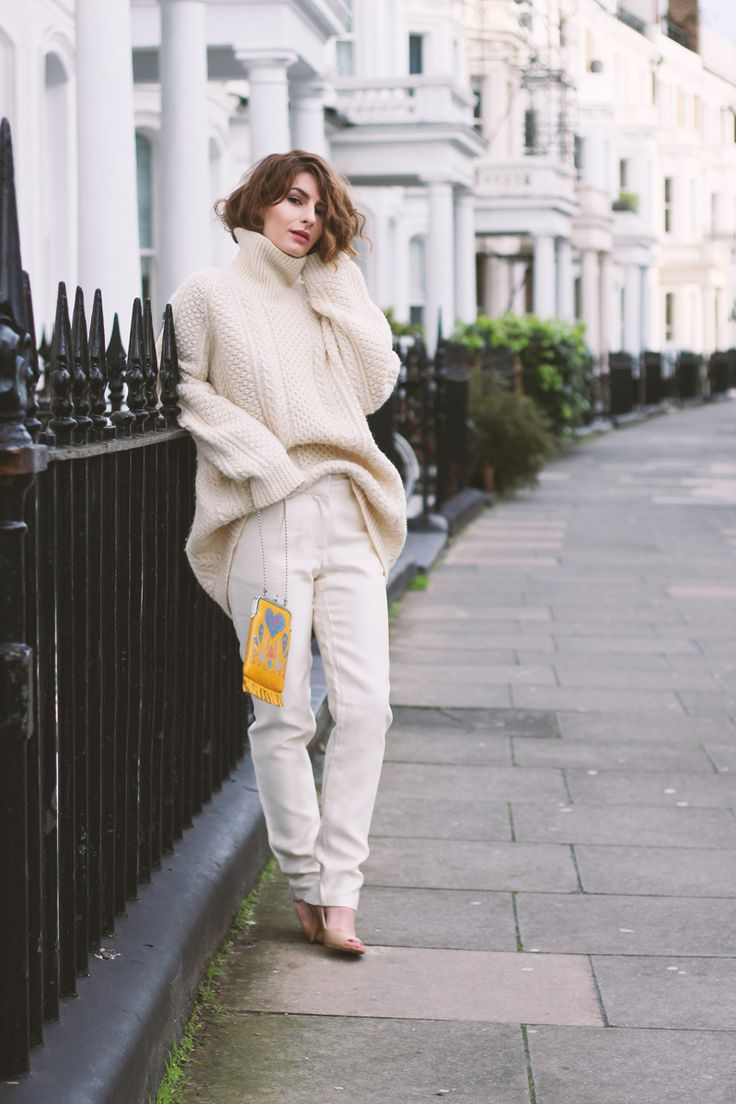 all white blogger style