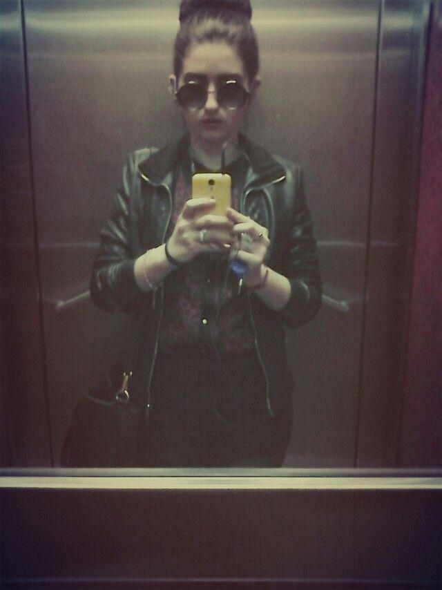 #spring #black #jacket #rock