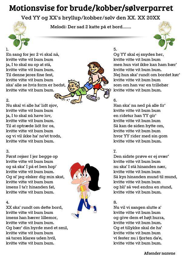 Fra Gaesterne Til Brudeparret Festsange Med Mere Bryllupssange 60 Ars Fodselsdag Sang