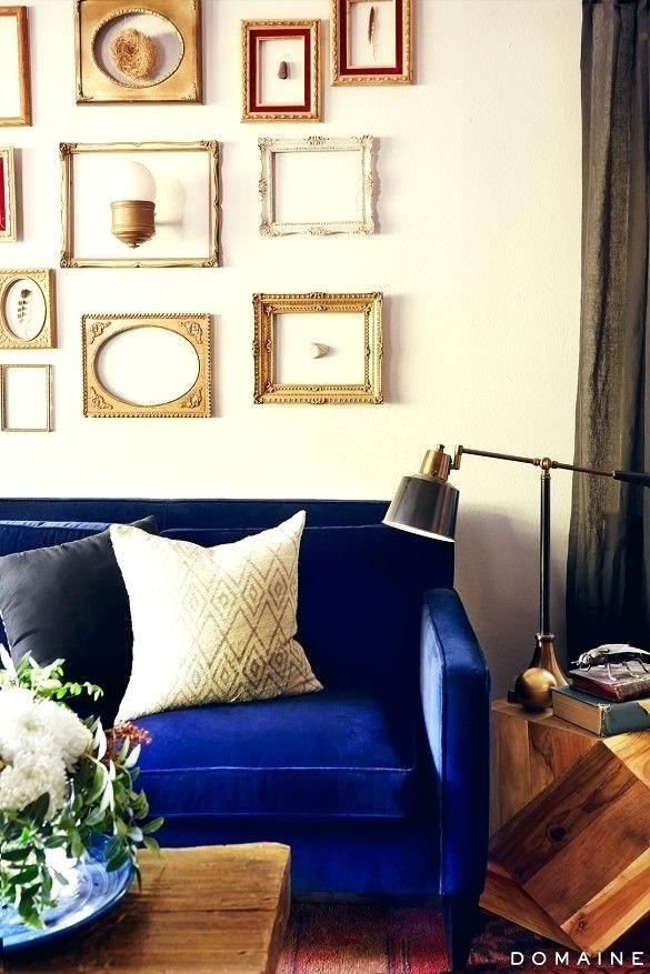 Blaues Velvet Sofa Wohnzimmer Innenarchitektur 2018 Pinterest - wohnzimmer grau magenta