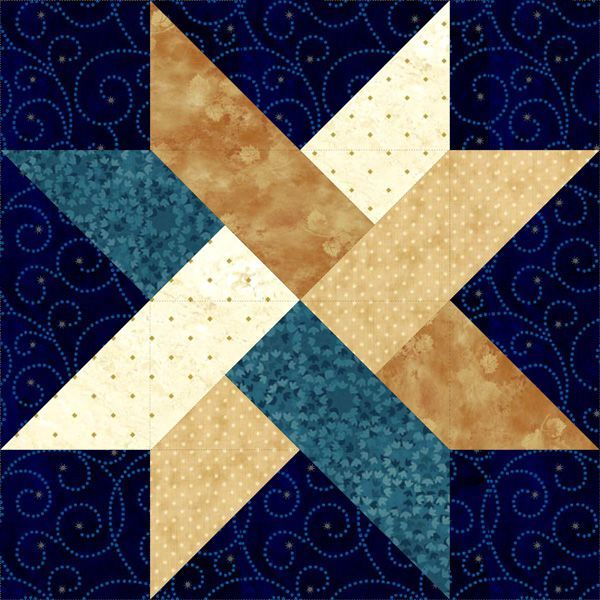 """Weave A Star 18"""" Block. Use strips of paper and weave into a star shape. Don't cut them as for quilting."""