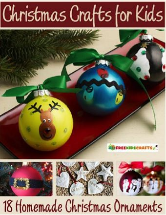 FREE e-Book: 18 Christmas Crafts for Kids! #craft #thefrugalgirls