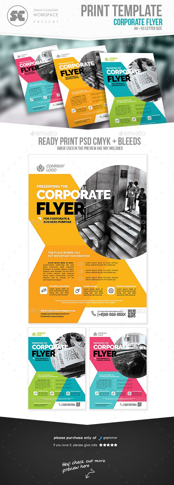 Corporate Business Flyer Template PSD. Download here: http://graphicriver.net/item/corporate-business-flyer/16426065?ref=ksioks