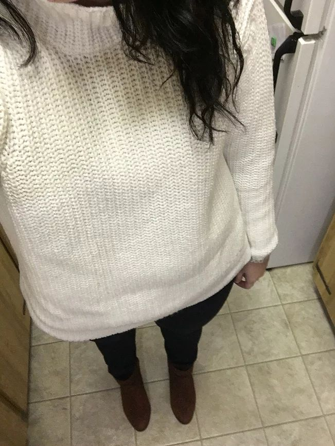 Jaques Vert Coat - Value Village (December Finds)/ Lord and Taylor Sweater - Hudson's Bay/ DKNY Jeans - Winners/ Bag - Value Village (December Finds)/ Lucky Br