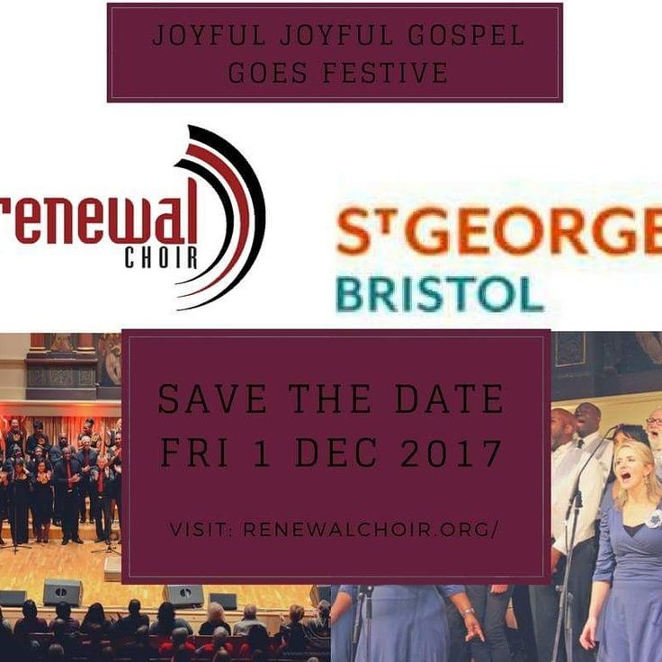<< SAVE THE DATE  >>  Once again renewal choir sets itself up preparation for another scintillating evening of high-energy high-quality gospel music to fill the atmosphere o St Georges – Bristol's world-famous music venue.  Tickets will shortly be on sale for end of your Christmas events which promises to be every bit as exciting and heartwarming as previous years.  http://renewalchoir.org/joyful-joyful-gospel-goes-festive/