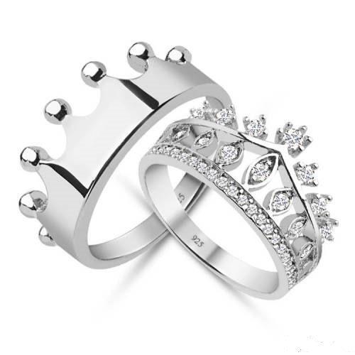 King & Queen anello corona corona set di anelli anello