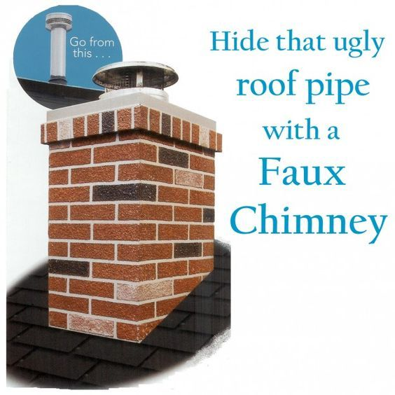 Hide Ugly Roof Pipes With A Chimney Surround Home
