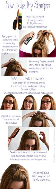 Hair How to: How to Use Dry Shampoo! No White Powdery Residue Left Behind! ~ Who knew there were directions?!  This does look handy though!  I really need to get some of this stuff!