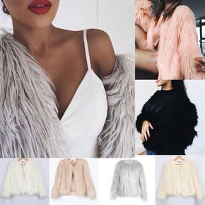 Luxury Women Warm Winter Casual Faux Fur Parka Coat Overcoat Long Jacket Outwear