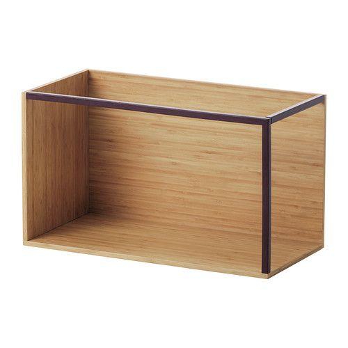 IKEA PS 2014 Contenitore - bambù/rosso scuro  - IKEA
