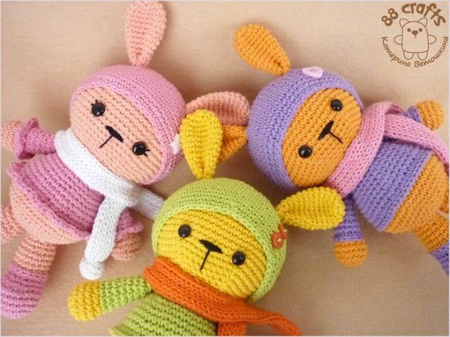 Amigurumi Renkli Tavşan Yapılışı-Amigurumi Colorful Bunny Free Pattern
