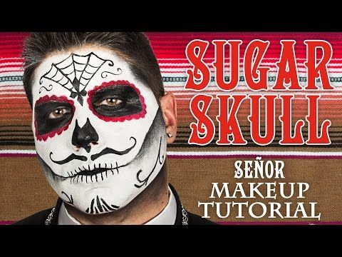 Easy Sugar Skull | Day Of The Dead MakeUp Tutorial For Halloween | Shonagh Scott | ShowMe MakeUp - YouTube