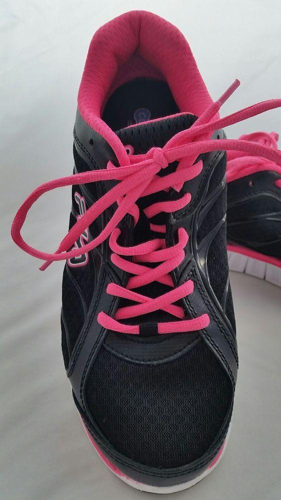 Fila Size 10 Womens Running Athletic Shoe Black Pink Coolmax Walking Hiking Jog #Fila #WalkingHikingTrail